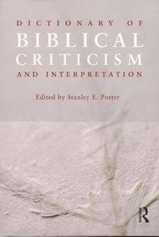 Image sur Dictionary of Biblical Criticism and Interpretation