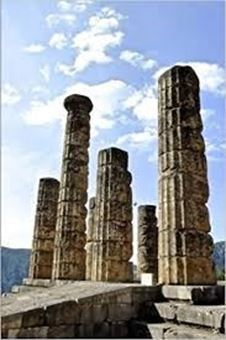 Picture of Columns at Delphi Greece Journal: 150 Page Lined Notebook/Diary