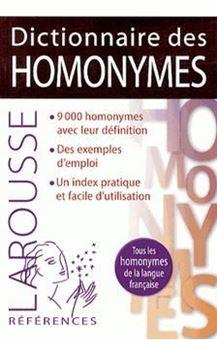 Picture of Dictionnaire des homonymes