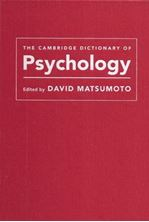 Picture of The Cambridge Dictionary of Psychology