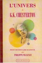 Picture of L'univers de G.K. Chesterton: petit dictionnaire raisonné