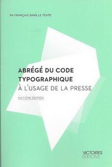 Picture of Abrégé du code typographique à l'usage de la presse