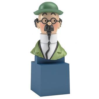 Image sur Buste de Tintin: Le Professeur Tournesol Moulinsart PVC 7,5cm 42495 (2017)