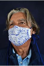 Εικόνα της Dolphin Paisley mask - Quixotic Mask (ciel and electric blue)